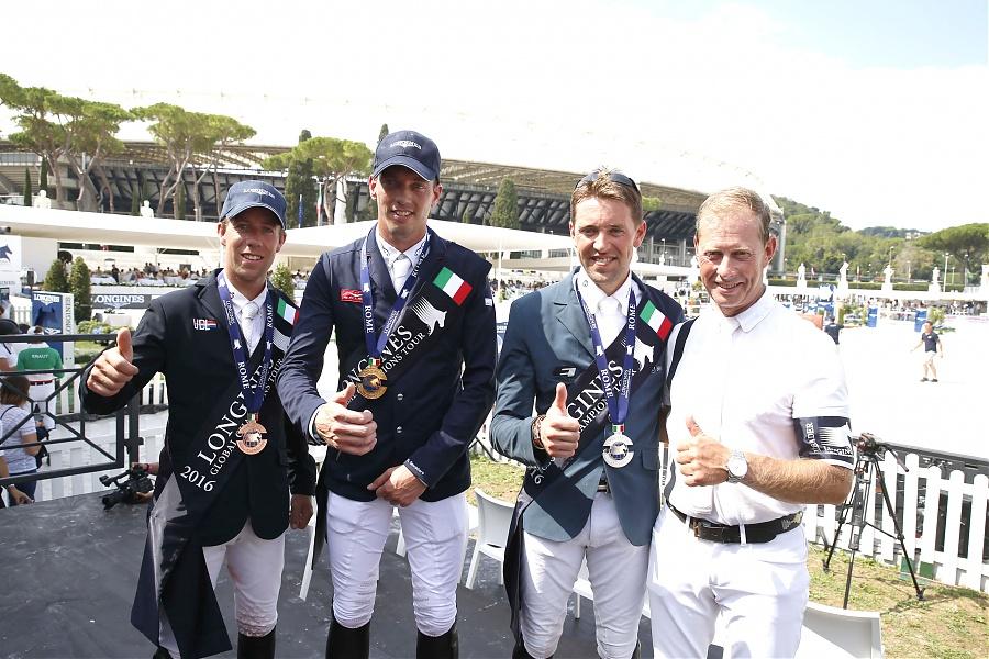 LGCT of Rome - Grand Prix of Roma - Maikel van der Vleuten, Harrie Smolders, Simon Delestre and Rolf Goran Bengtsson